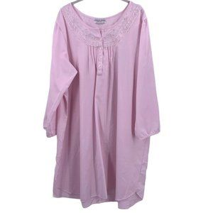 Miss Elaine Woman Brushed Back Satin Nightgown